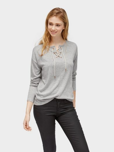 Tom Tailor Denim Sweater Pullover mit Schnürung