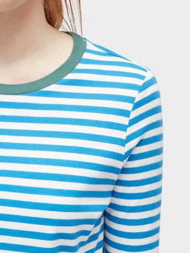 Tom Tailor Denim Langarmshirt gestreiftes Langarmshirt