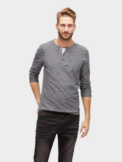 Tom Tailor Langarmshirt Langarmshirt in Melange-Optik