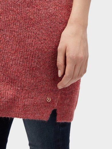 Tom Tailor Denim Longpullover langer Pullover in Ripp-Optik