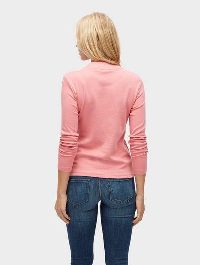 Tom Tailor Langarmshirt Basic Langarmshirt mit Stehkragen
