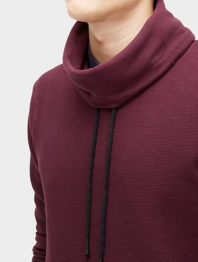 Tom Tailor Denim Sweatshirt Sweatshirt mit Streifen-Struktur