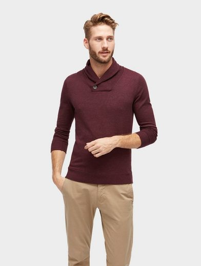 Tom Tailor Knitted Sweaters With Shawl Collar