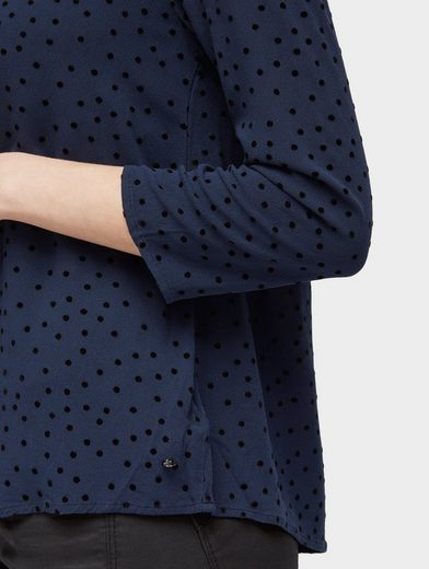 Tom Tailor Denim Shirtbluse mit Punktemuster