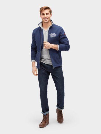 Tom Tailor Sweatjacke Sweat-Jacke mit Stehkragen