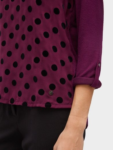 Tom Tailor 3/4 Arm-shirt With A Dotted Front