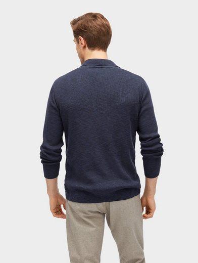 Tom Tailor Strickjacke melierter Blazer aus Feinstrick