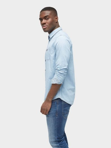 Tom Tailor Long Sleeve Shirt Patterned Shirt With Breast Pockets