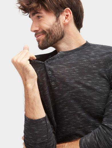 Tom Tailor Strickpullover mit kurzer Knopfleiste