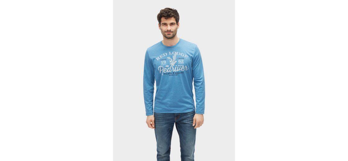 Tom Tailor Langarmshirt Langarmshirt mit Schrift-Print Sneakernews Zum Verkauf Freies Verschiffen Finden Große 5E8T6B