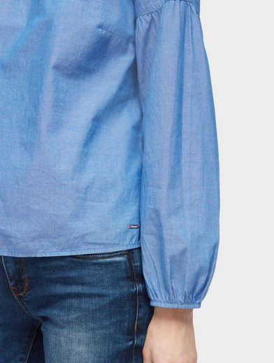 Tom Tailor Denim Langarmbluse Bluse mit Ballonärmeln