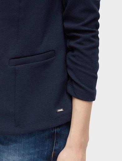 Tom Tailor Denim Sweatblazer Blazer aus Jersey mit Struktur
