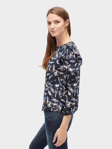 Tom Tailor Denim Langarmbluse gemusterte Bluse