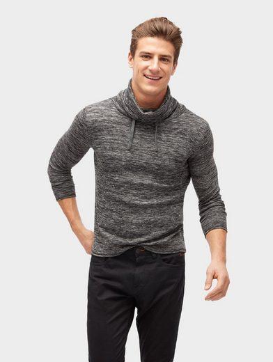 Tom Tailor Strickpullover Sweatshirt mit Stehkragen