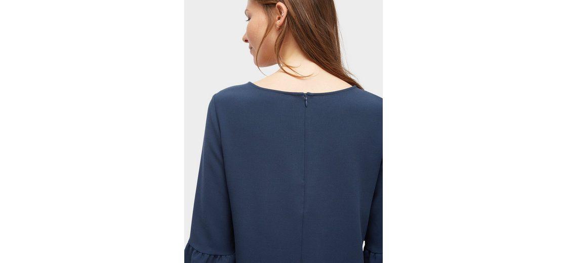 Rabatt Vorbestellen Tom Tailor A-Linien-Kleid mit Volant-Ärmeln Billig Günstiger Preis rTC6l0
