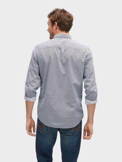 Tom Tailor Langarmhemd gemustertes Hemd