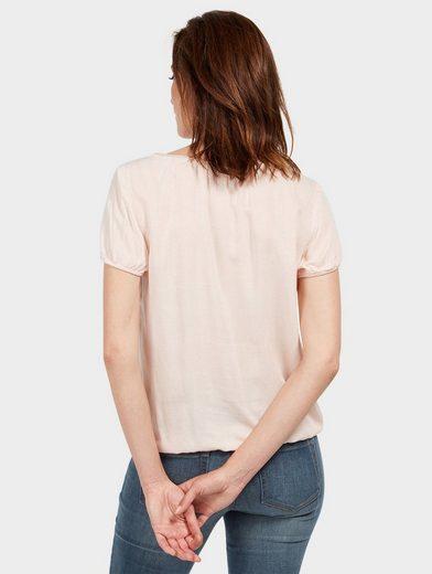 Tom Tailor Shirtbluse mit Schnürung am Ausschnitt