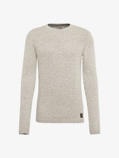 Tom Tailor Denim Rundhalspullover Strickpullover in Melange-Optik