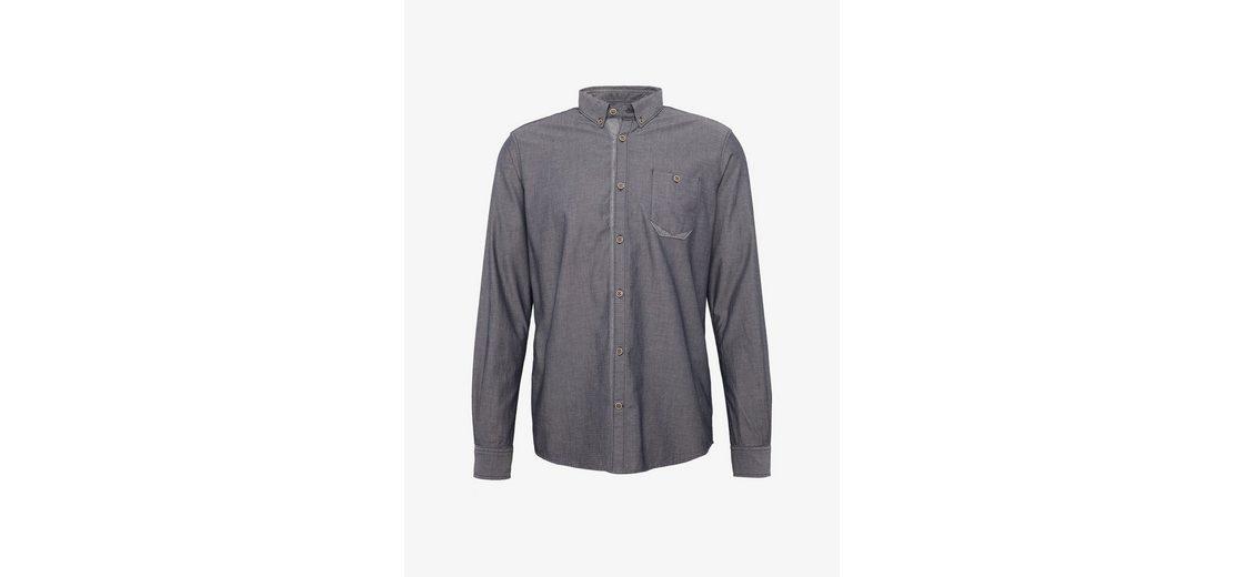 Tom Tailor Langarmhemd gemustertes Hemd mit Brusttasche Gefälschte Online-Verkauf Erschwinglich 0IZtAQ3