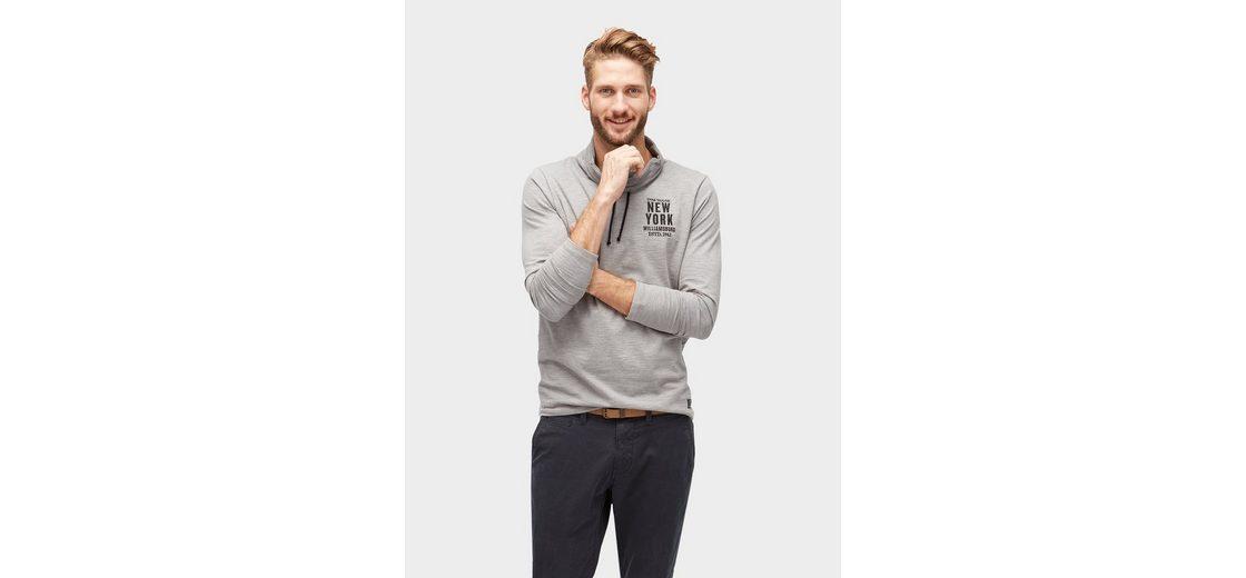 Tom Tailor Langarmshirt mit Streifenmuster Speichern Günstig Online Rabatt Neuesten Kollektionen Footlocker Bilder Zum Verkauf PzSG3A