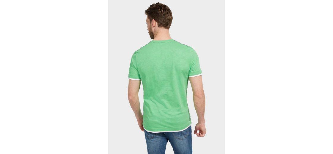Steckdose Mit Paypal Online Bestellen Auslass Finish Tom Tailor T-Shirt mit Schrift-Print Freies Verschiffen Austrittsstellen Neueste Online Spielraum Geniue Händler N5tDyx0