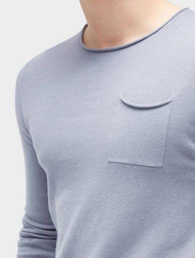 Tom Tailor Denim Rundhalspullover Pullover mit Brusttasche