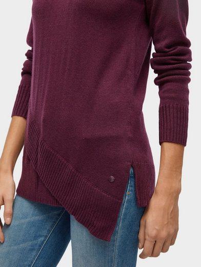 Tom Tailor Strickpullover Pullover mit asymmetrischem Saum