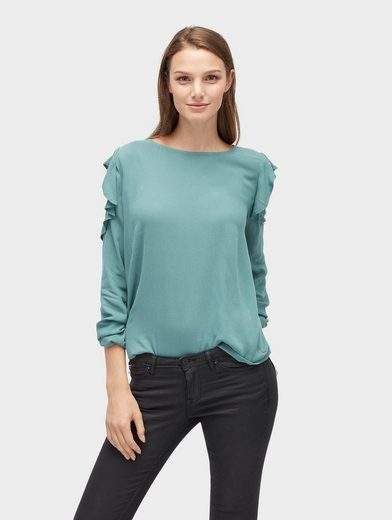 Tom Tailor Denim Long Sleeve Blouse With Ruffles