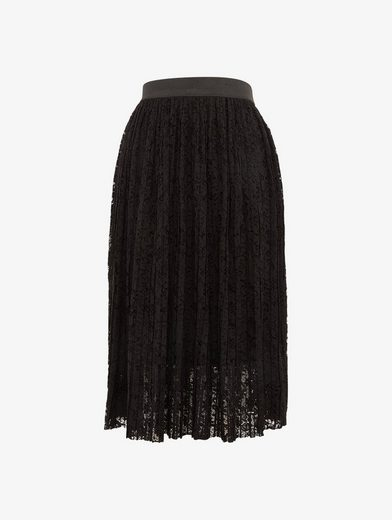Tom Tailor Denim Pleated Skirt With Lace