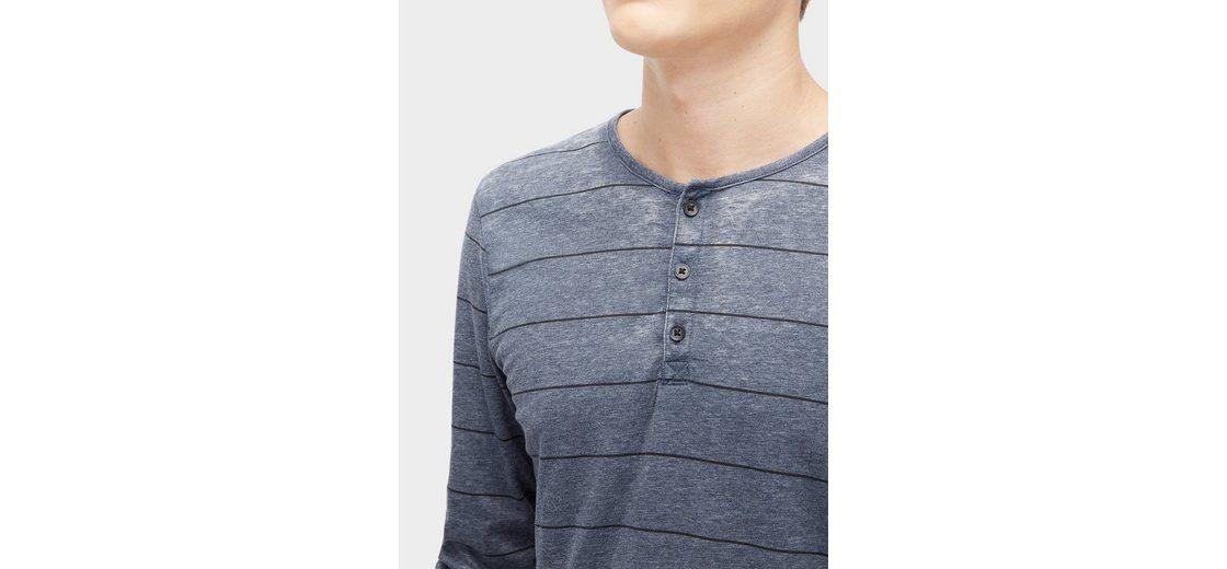 Tom Tailor Denim T-Shirt gestreiftes Henley Großer Rabatt Zum Verkauf Einkaufen Verkauf Niedrig Versandkosten LVPuQNivK9