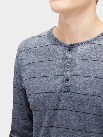 Tom Tailor Denim T-Shirt gestreiftes Henley