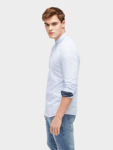 Tom Chemise En Denim Sur Mesure En Melange-optik