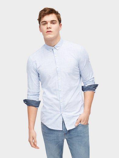 Tom Tailor Denim Hemd Hemd in Melange-Optik