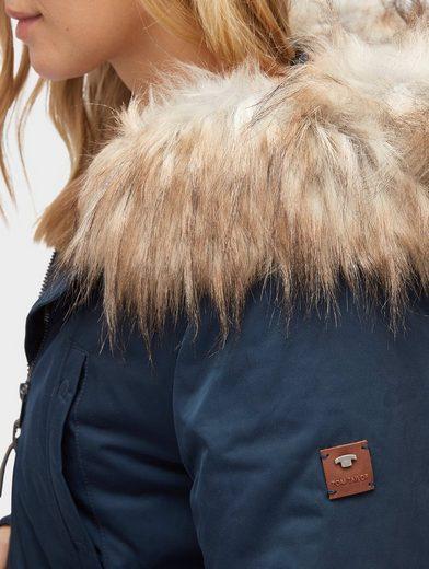 Tom Tailor Wollmantel Mantel mit Kunstfell-Kragen