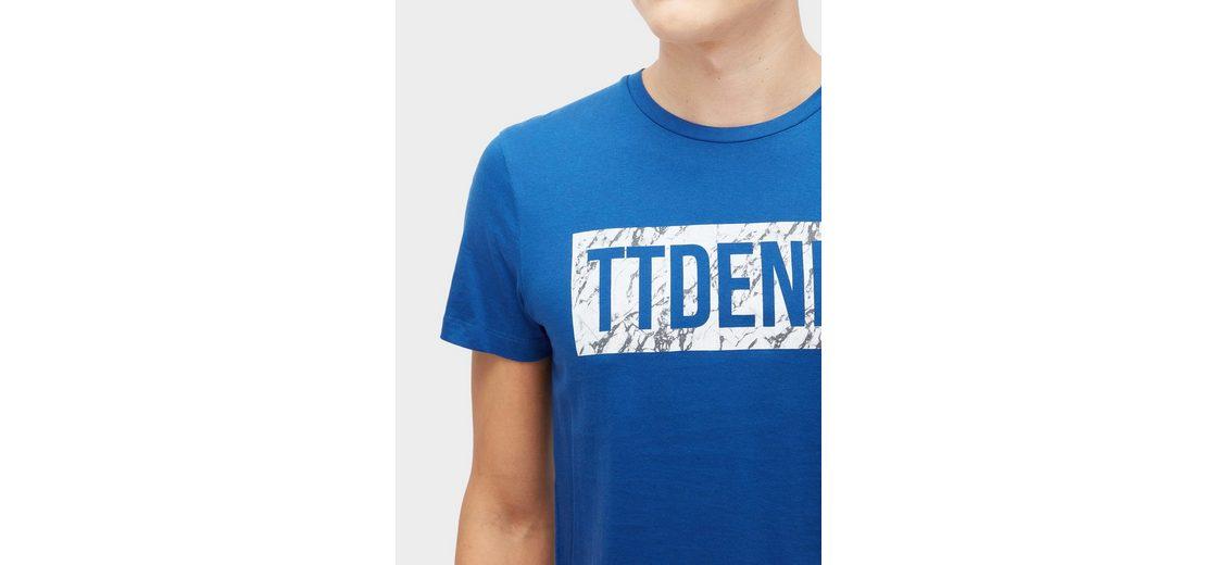 Angebote Online Gutes Verkauf Günstiger Preis Tom Tailor Denim T-Shirt T-Shirt mit Schrift-Print 2J9cB