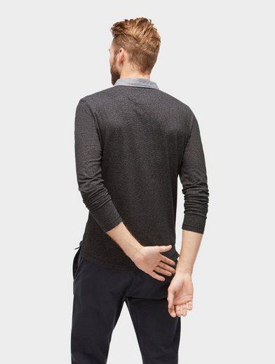 Tom Tailor Langarmshirt Long Sleeve Polo Shirt In Melange Optic