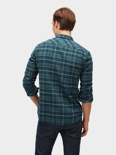 Tom Tailor Denim Shirt Plaid Shirt With Breast Pockets