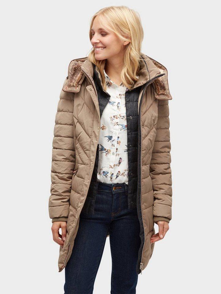 6c7689b178ed Tom Tailor Wollmantel »gesteppter Mantel mit Kapuze« online kaufen ...