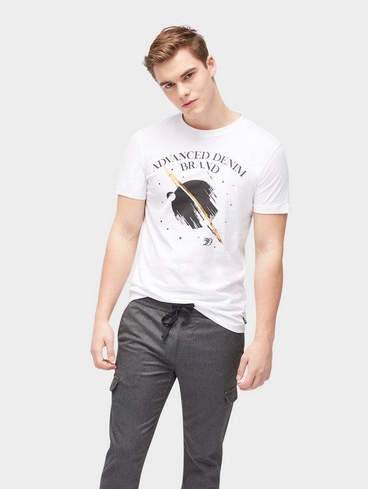 Herren TOM TAILOR Denim  T-Shirt T-Shirt mit Galaxie-Print weiß | 04059953887585