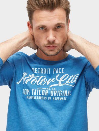Tom Tailor Langarmshirt mit Schrift-Print