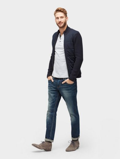 Tom Tailor Langarmshirt Langarmshirt mit Knopfleiste