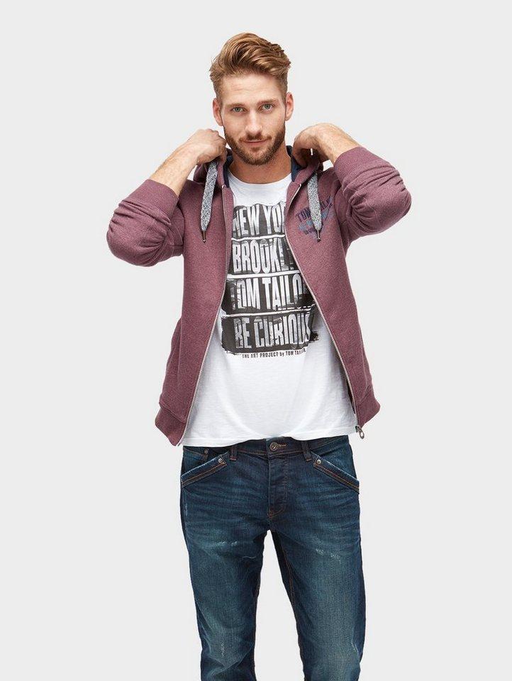 Tom Tailor Sweatjacke »Sweatjacke in Melange-Optik « online kaufen ... 0251f56f2c