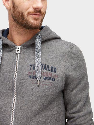 Tom Tailor Sweatjacke Sweatjacke in Melange-Optik