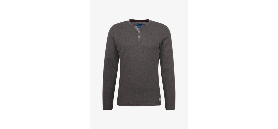 Tom Tailor Langarmshirt strukturiertes Langarmshirt Low-Cost Verkauf Online Footlocker Finish KL808MD