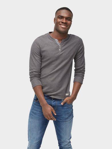 Tom Tailor Langarmshirt strukturiertes Langarmshirt