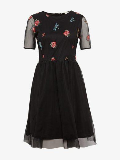 Tom Tailor Denim Skaterkleid Kleid aus Mesh mit Stickerei