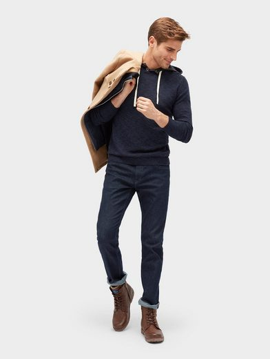 Tom Tailor Strickpullover Hoodie in Melange-Optik