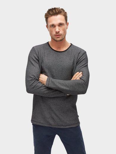 Tom Tailor Langarmshirt in Melange-Optik
