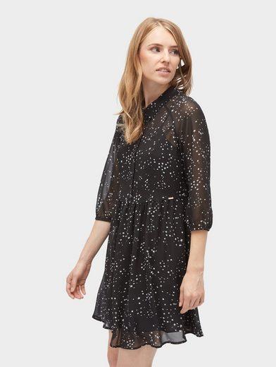 Tom Tailor Denim Chiffon Dress With Star-pattern