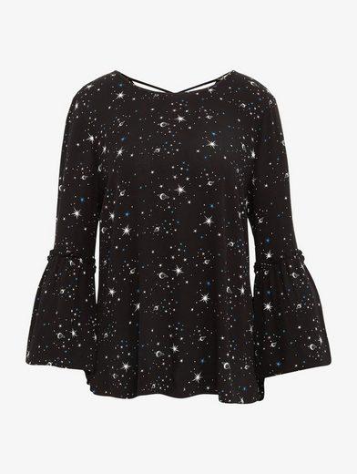Tom Tailor Denim Shirtbluse Bluse Mit Galaxie-print